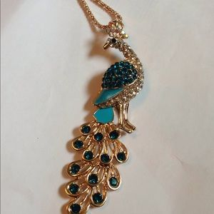That's the Johnson peacock necklace